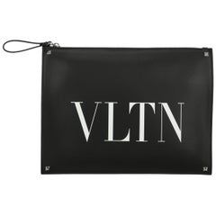 Valentino Women's Clutch Bag Black Leather