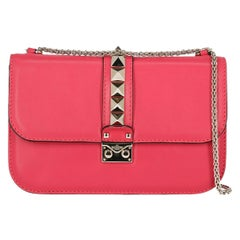 Valentino Women's Cross Body Bag Glam Rock Pink Leather