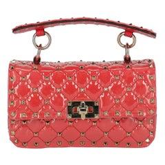 Valentino Women's Handbag Spike Pink Synthetic Fibers