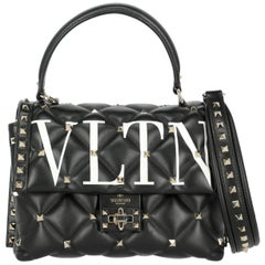 Valentino Women's  Shoulder Bag Candystud  Black/White Leather
