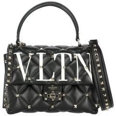 Valentino Women's  Shoulder Bag Candystud  Black/White Leather
