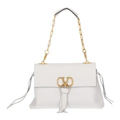 Valentino Women's Shoulder Bag VRing White Leather