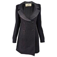 Valentino Womens Vintage Black Bouclé Tweed Blazer