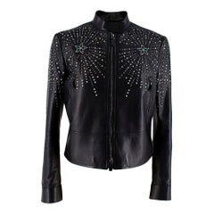 Valentino x Goop Wonder Woman Black Stud Leather Jacket - Size US 6