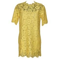 Valentino Yellow Lace Dress