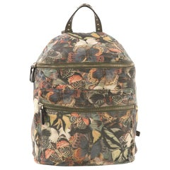 Valentino Zip Around Backpack Camubutterfly Printed Canvas Large