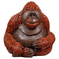 Valérie Courtet, Orangutan, Glazed Stoneware Sculpture
