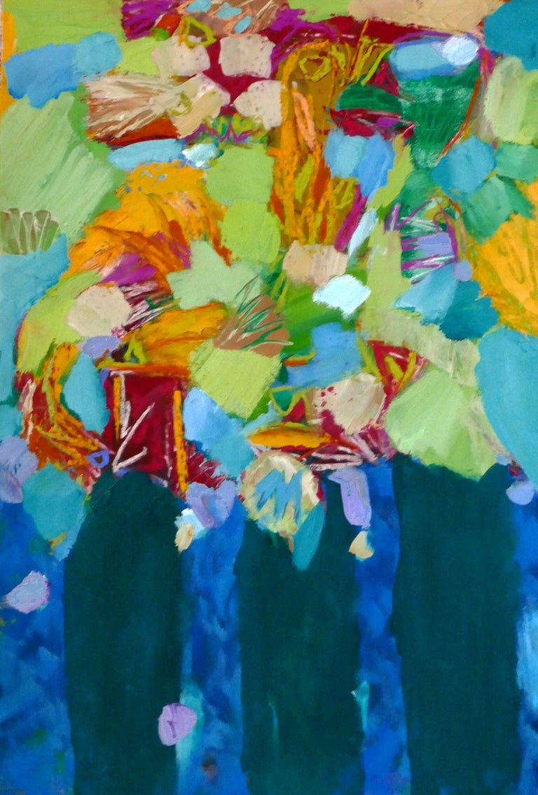 Tree Bouquets, Mixed Media on Paper - Mixed Media Art by Valerie Erichsen Thomson