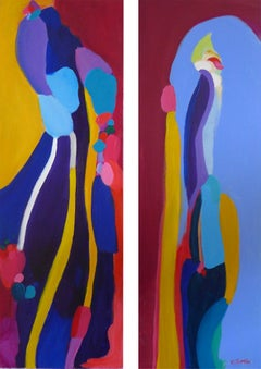 A Royal Parade Diptych, Painting, Acrylic on Canvas