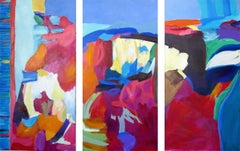 Storybook Triptych, Painting, Acrylic on Canvas