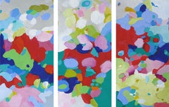 The Colors Join The Migration. Triptych., Painting, Acrylic on Wood Panel