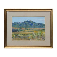 Naturalistic Pastel New Mexican Mountain Landscape