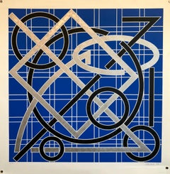 Post Minimalist Patter and Decoration Large Abstract Silkscreen Print