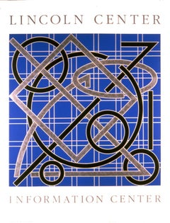 "Valerie Jaudon-Lincoln Center Information Center-46"" x 35""-Serigraph-1986"
