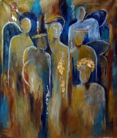 Chorus Angelorum (Choir of Angels), Painting, Oil on Canvas
