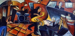 Cool Jazz, Painting, Oil on Canvas