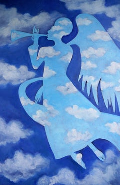 Gabe in the Clouds, Painting, Oil on Canvas