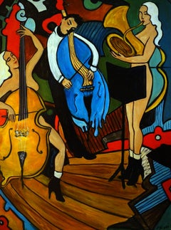 Melting Jazz, Painting, Oil on Canvas
