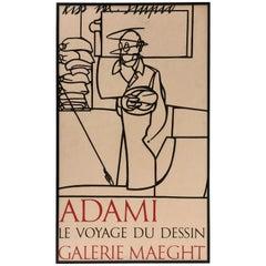 Valerio Adami Framed Poster Le Voyage du Desiin Galerie Maeght