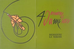 1973 Valerio Adami 'Derriere le Miroir, no. 206 cover' Modernism Green France