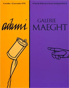 """Galerie Maeght,"" an Original Color Lithograph Poster by Valerio Adami"