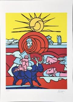 Sun - Original Screen Print by Valerio Adami - 2010