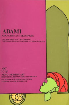 Valerio Adami is.a Vintage Offset and Screen Print Poster - 1977