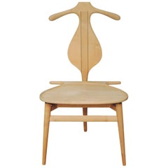 Hans Wegner Valet Chair in Maple with Wenge Inlay, 1953