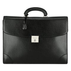 Valextra Woman Briefcase Black Leather