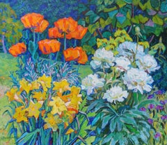 Poppies and peonies. 1985. Oil on canvas, 70x80 cm