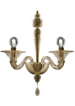 Valiant 5507 02 Wall Sconce in Gold Glass, by Barovier&Toso