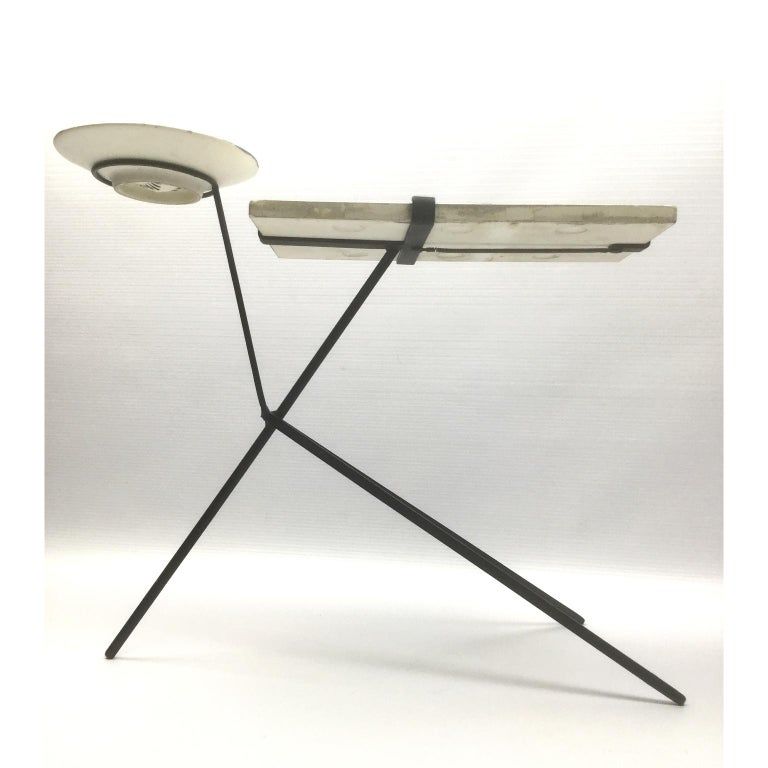 Mid-Century Modern Vallauris Ceramic Side Table design by the French Ceramist Roger Capron, 1950s For Sale