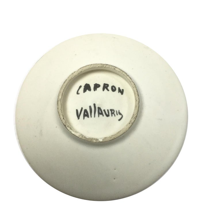 Vallauris Ceramic Side Table design by the French Ceramist Roger Capron, 1950s For Sale 1