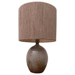 Mid-Century Modern Vallauris Ceramic Table Lamp, France