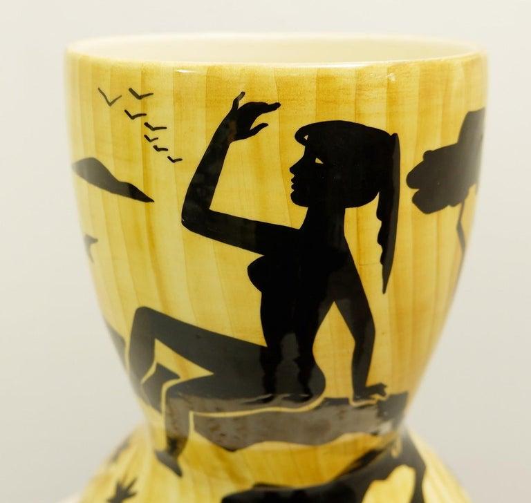 Vallauris ceramic vase by Granjean Jourdan, 1960s.