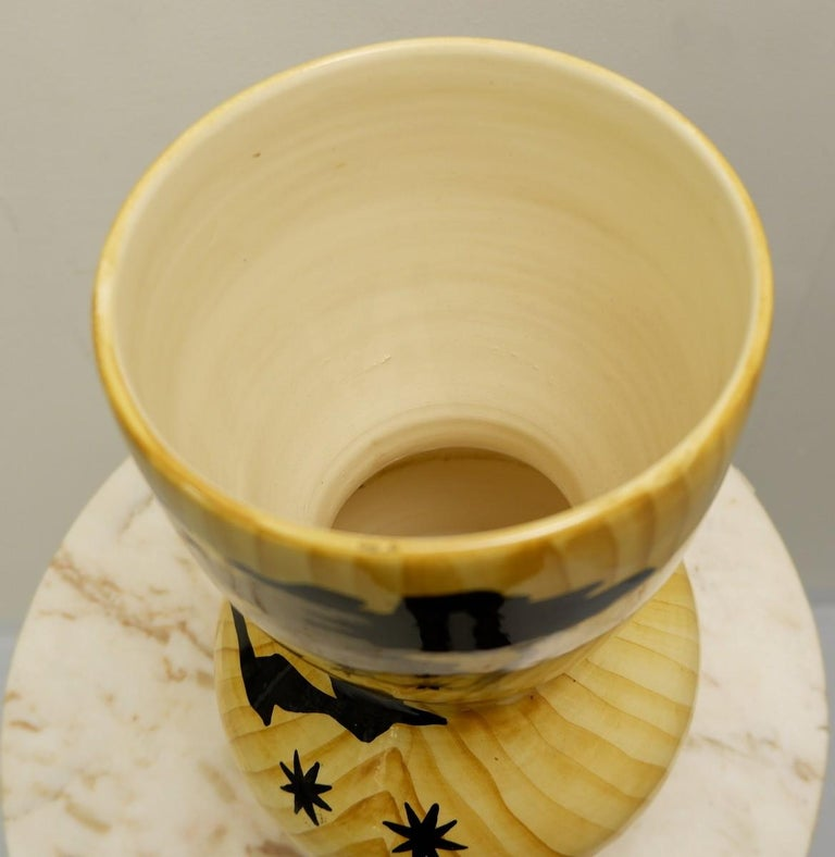 European Vallauris Ceramic Vase by Granjean Jourdan, 1960s For Sale