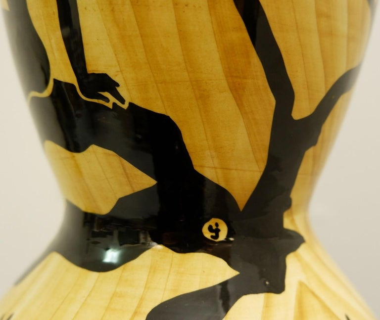 Vallauris Ceramic Vase by Granjean Jourdan, 1960s In Good Condition For Sale In Brussels, BE