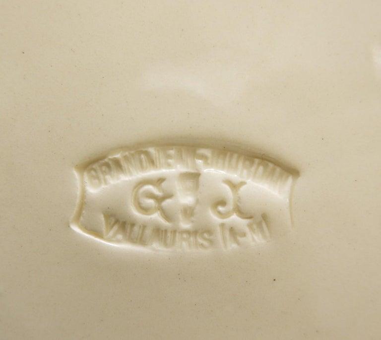 Mid-20th Century Vallauris Ceramic Vase by Granjean Jourdan, 1960s For Sale