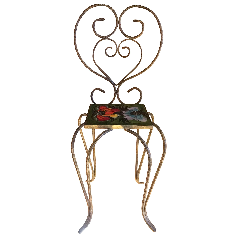 Vallauris Decorative Chair by Le Duc Raymond, France, 1950