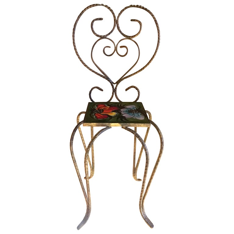 Vallauris Decorative Chair by Le Duc Raymond, France, 1950 For Sale