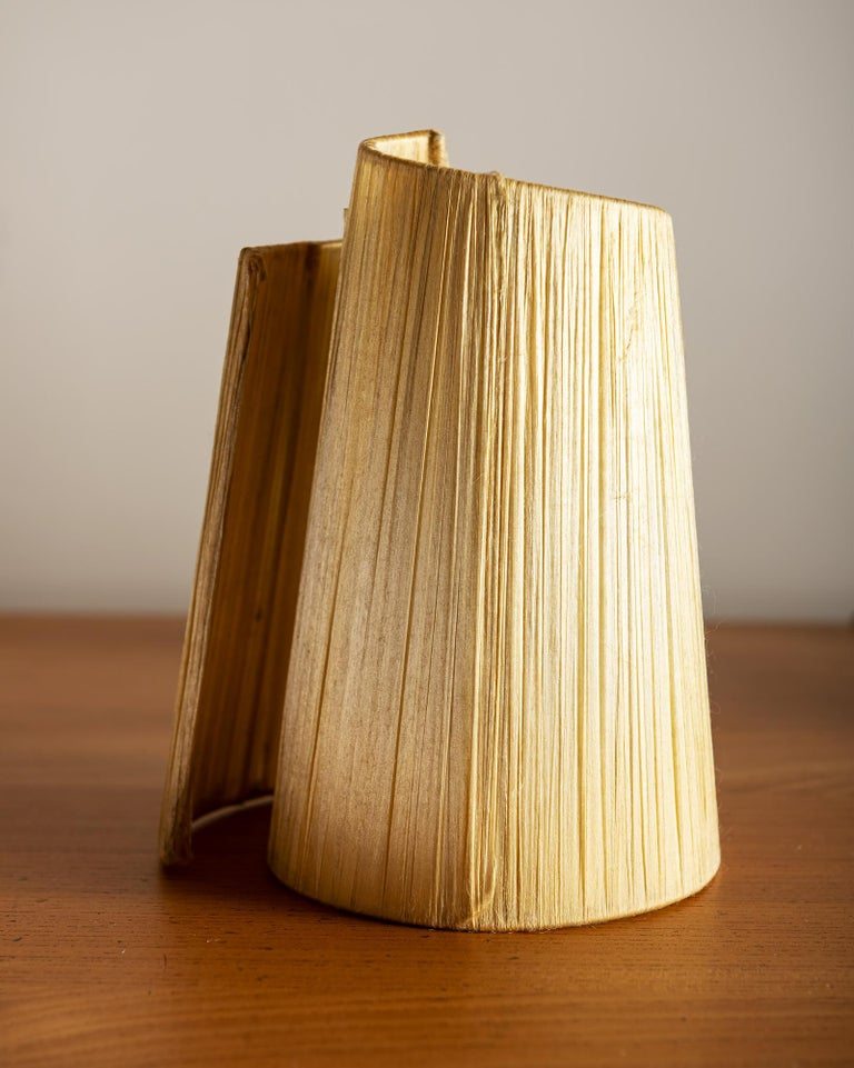 Vallauris Faux Bois Lamp with Spiral Shade, France, 1950s For Sale 6
