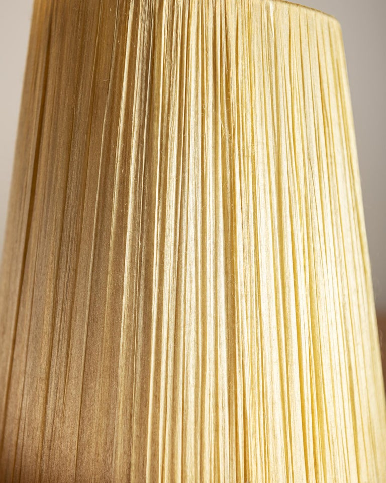 Vallauris Faux Bois Lamp with Spiral Shade, France, 1950s For Sale 7