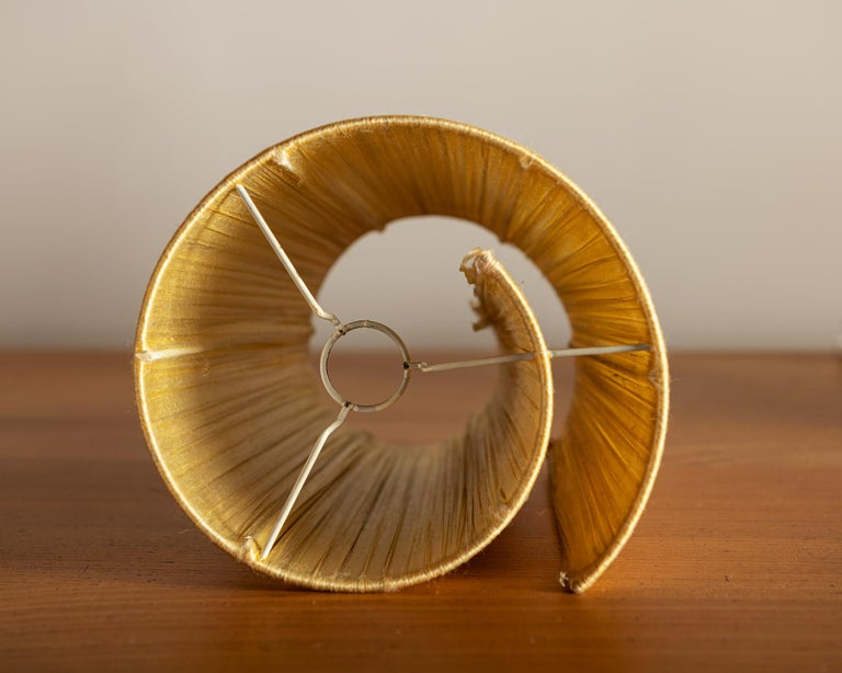Vallauris Faux Bois Lamp with Spiral Shade, France, 1950s For Sale 8
