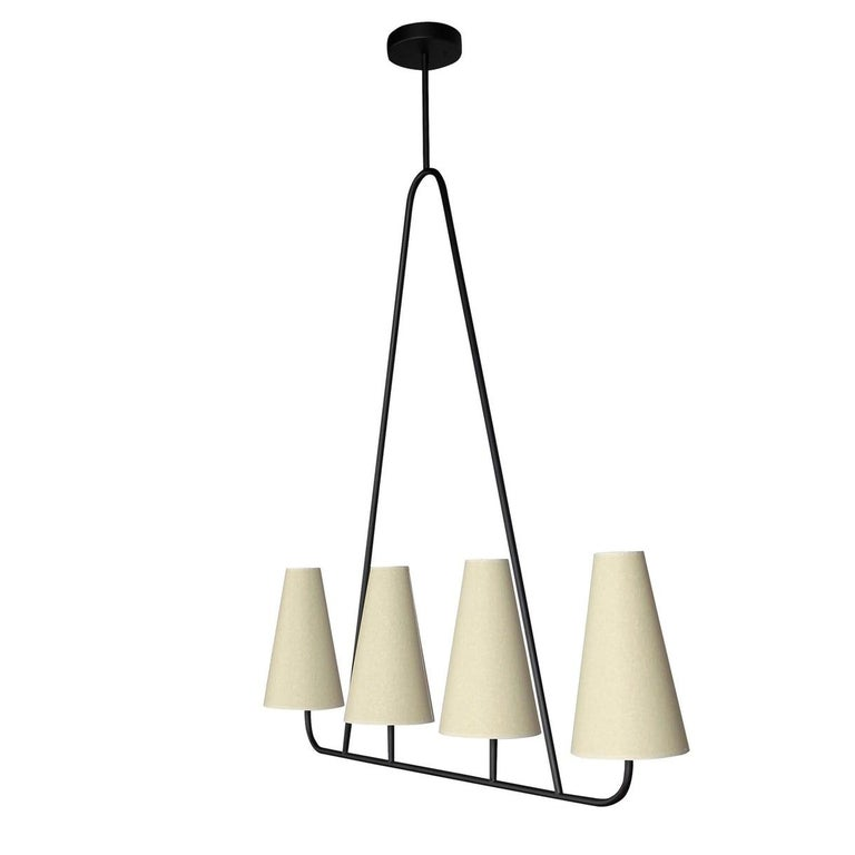 Mid-Century Modern 'Vallauris IV' Four-Arm Chandelier in the Style of Jean Royère For Sale