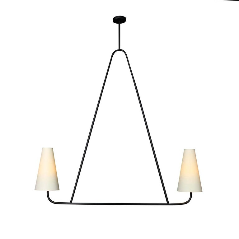 American 'Vallauris IV' Four-Arm Chandelier in the Style of Jean Royère For Sale