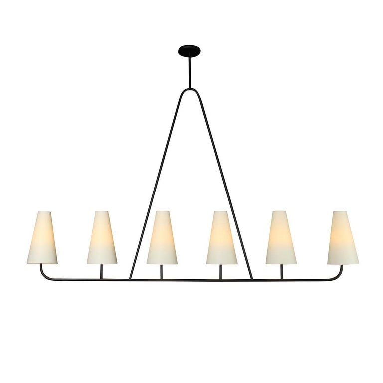 Contemporary 'Vallauris IV' Four-Arm Chandelier in the Style of Jean Royère For Sale