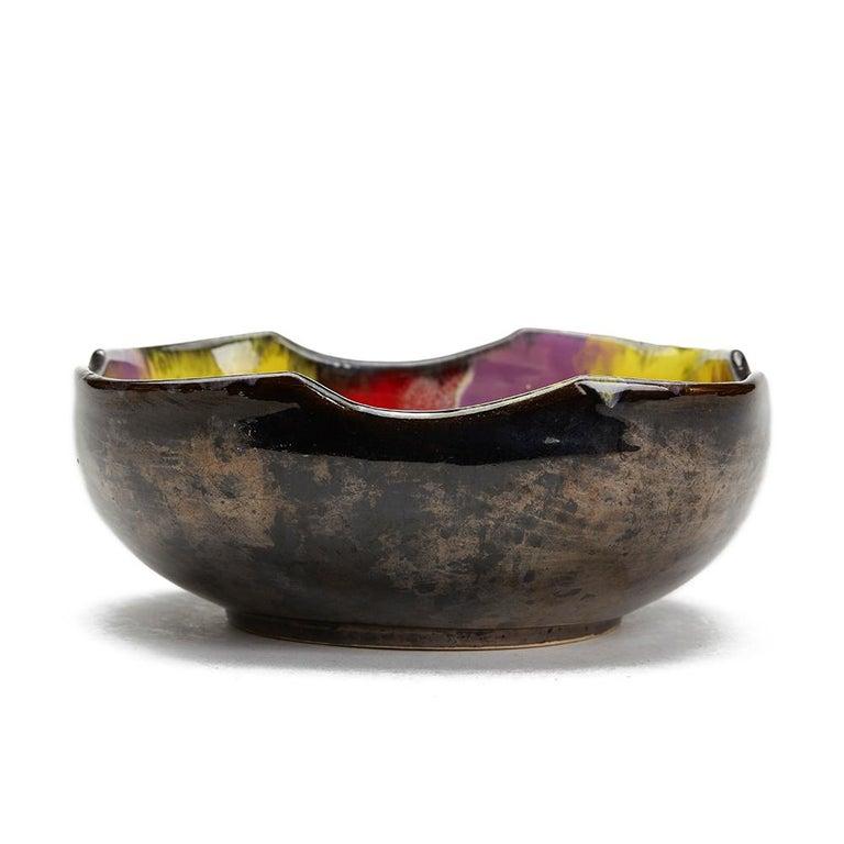 Mid-20th Century Vallauris Pottery Multicolour Glazed Bowl Set, circa 1950 For Sale