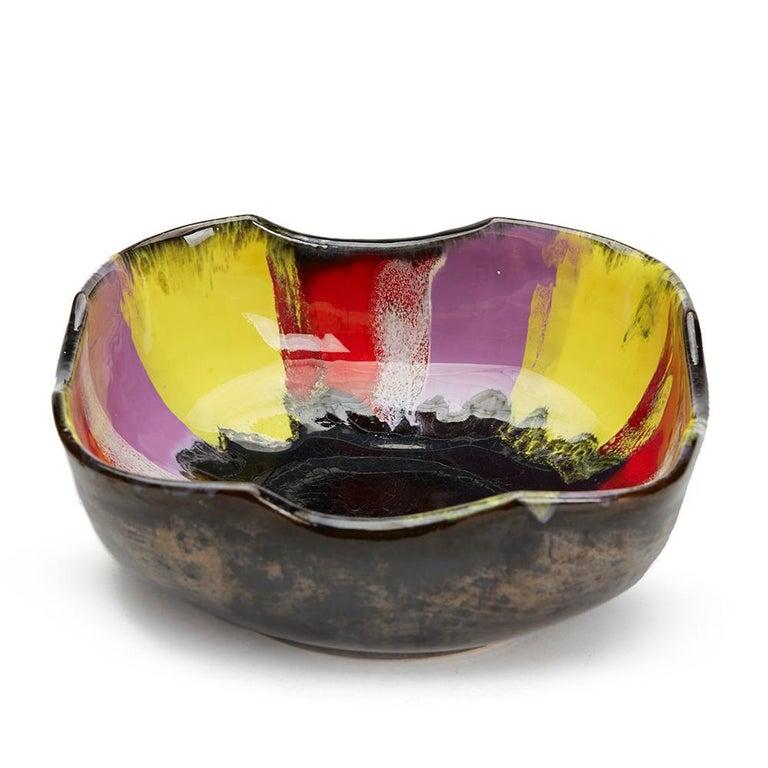 Vallauris Pottery Multicolour Glazed Bowl Set, circa 1950 For Sale 1