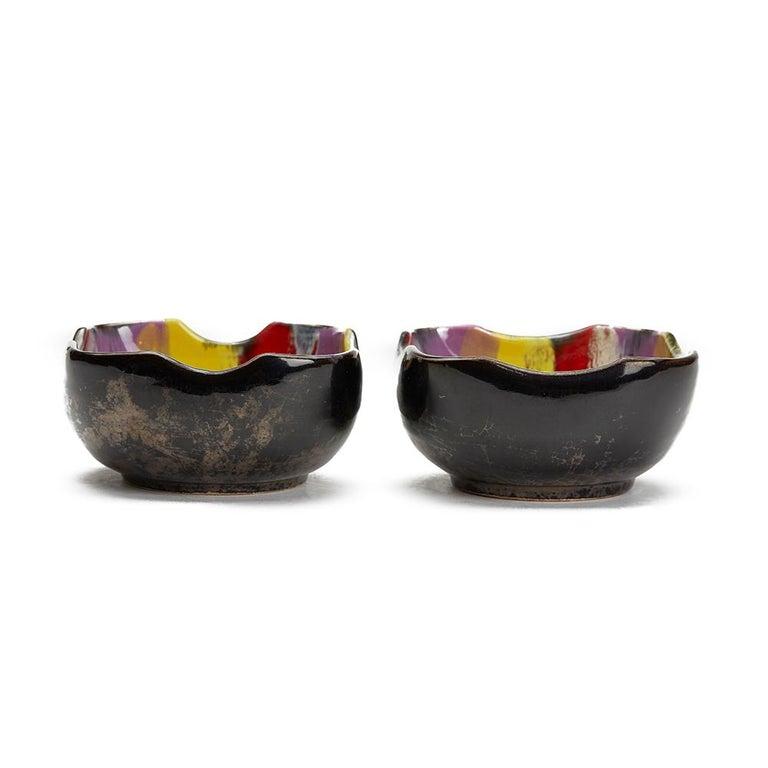 Vallauris Pottery Multicolour Glazed Bowl Set, circa 1950 For Sale 2