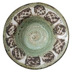 Vallauris Serving Platter or Centerpiece Textured Patterns Midcentury